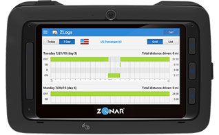 Zonar's Connect Tablet with ZLogs