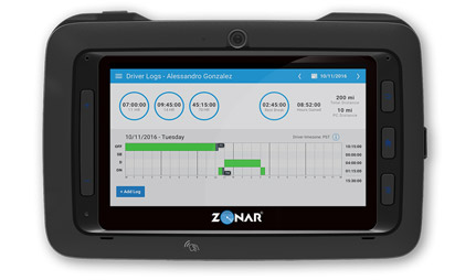Zonar Logs on the Connect Tablet