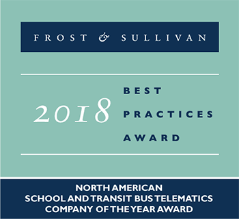 Frost & Sullivan - 2018 North American School and Transit Bus Telematics Company of the Year Award