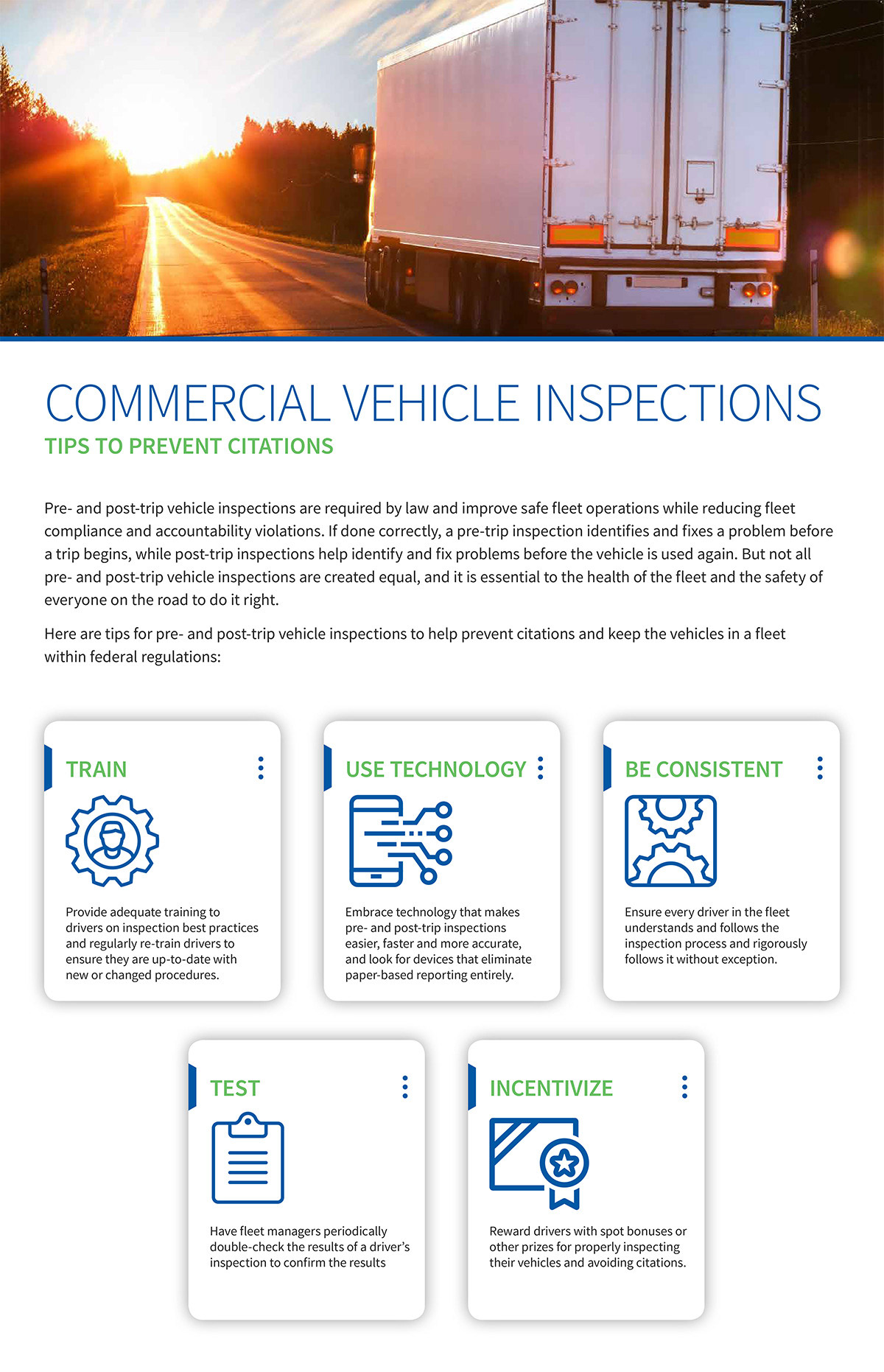 Commercial Vehicle Inspection Tips Infographic