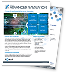 Advanced GPS Navigation Product Cutsheet