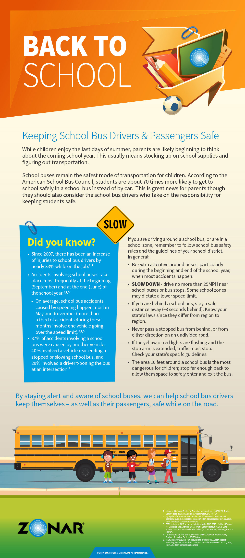 Infographic: Keeping School Bus Drivers & Passengers Safe