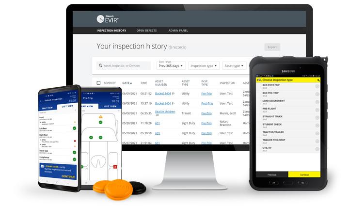 Zonar EVIR - Electronic Verified Inspection Reporting